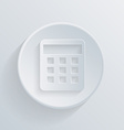 Circle flat icon with a shadow calculator vector