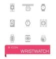 Wristwatch icon set vector