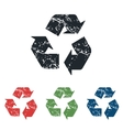Recycle grunge icon set vector