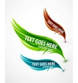 Abstract wave text line vector