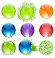 Glossy globes set vector
