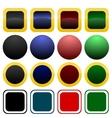 Collection of icon or button templates vector