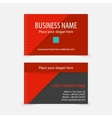 Abstract modern red business cards vector