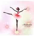 Ballerina invitation card vector