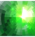 Abstract green shining circle tunnel background vector
