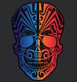 Tribal head mask vector