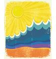 Sea waves poster vector