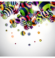 Abstraction 3d background vector