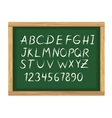 School board with chalk alphabet letters vector