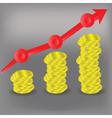 Financial bar chart diagram vector