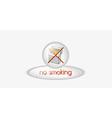 No smoking button vector