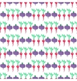 Seamless watercolor pattern with beetroot and vector