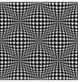 Design seamless monochrome warped checked pattern vector