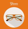 Glasses design vector