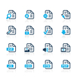 Documents icons 1 azure series vector