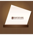 Blank sheet of paper background vector