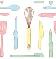 Seamless of kitchen utensils vector