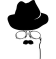 Cartoon detective retro accessories vector