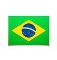 Brazil flag isolated on white vector