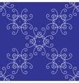 Seamless damask background pattern on blue vector