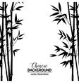 Bamboo bush over white vector