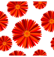 Floral seamless pattern with red flowers vector