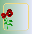 Pansies spring flowers frame place for text vector
