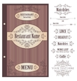 Restaurant menu design template - vector