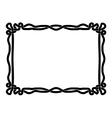 Simple black rope ornamental decorative frame vector