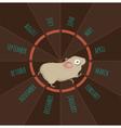 Running hamster vector