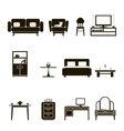 Furniture icons and symbols isolated silhouette vector