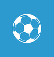 Football ball icon white on the blue background vector