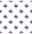 Seamless watercolor pattern with beetroot on the vector