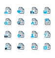 Documents icons 2 azure series vector