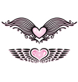 Heart tribals wings vector