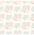 Seamless pattern with balloons vintage doodle vector