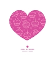 Colorful cupcake party heart silhouette pattern vector