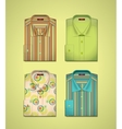 Set of a colored shirts vector