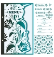 Restaurant menu design template - vector