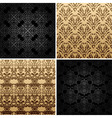 Seamless set four vintage backgrounds ornament dec vector
