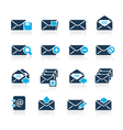 Email icons azure series vector