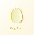 Creative paper cut easter egg vector