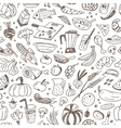 Raw food - seamless background vector