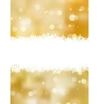 Gold christmas background with copy space eps 8 vector