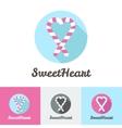 Modern flat candy shop or cafe logo vector
