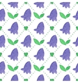 Seamless watercolor pattern with bluebells on the vector