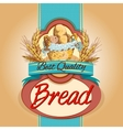 Bread pack label vector