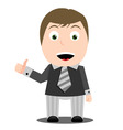 Business man with thumb up vector