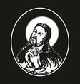 Jesus praying vector