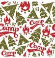 Camping seamless patterns vector